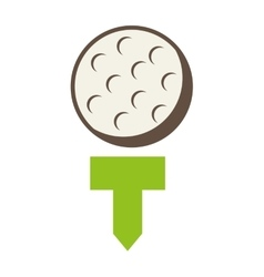 ball golf equipment icon vector image
