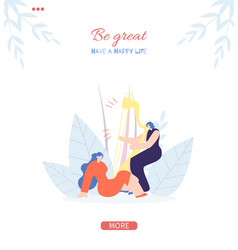 Be great motivate people social stories flat style vector