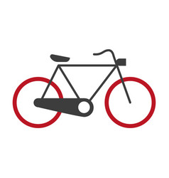 Bicycle graphic silhouette logotype icon on vector