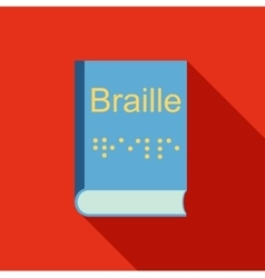Blindness Braille writing system icon flat style vector