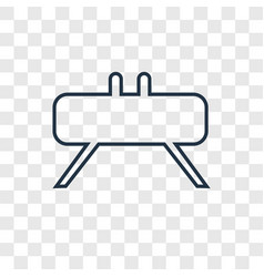 buck concept linear icon isolated on transparent vector image
