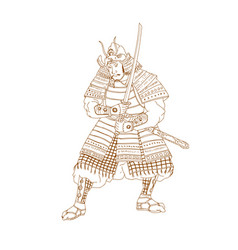 Bushi samurai warrior drawing vector