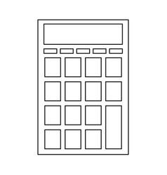 Calculator business finance mathematics cartoon in vector
