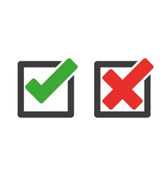 check mark and cross icons vector image