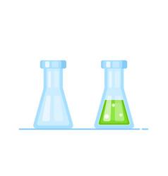 Chemistry glassware icons lab vector