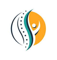 chiropractic physiotherapy logo design creative vector image