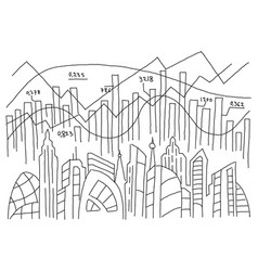 city information graph diagram sketch infographic vector image