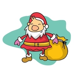 Collection of Santa Christmas theme vector image