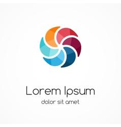 Color logo template Abstract creative design vector