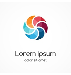 Color logo template Abstract creative design vector image