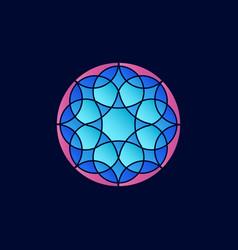 colorful mandala design element for logo or vector image