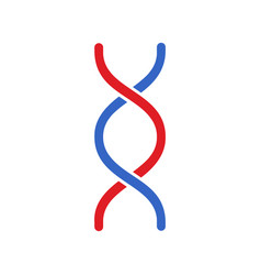 Dna icon modern simple flat dna sign isolated vector