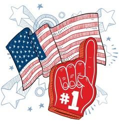 Doodle americana foam hand vector