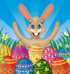 easter eggs frame vector image