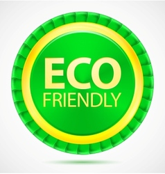 eco friendly green label vector image