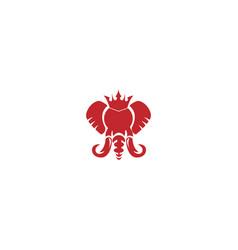 elephant king logo mascot vector image