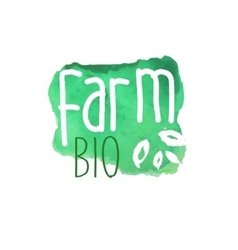 Farm Bio Fresh Products Promo Sign vector
