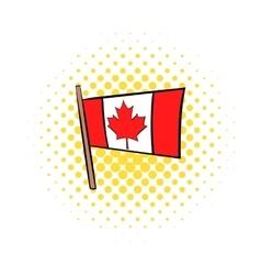 flag canada icon comics style vector image