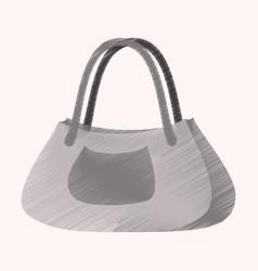 flat shading style icon clothes ladies handbag vector image