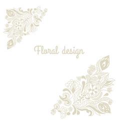 floral hand drawn decorative doodle vector image