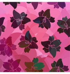Floral pattern seamless retro vector image