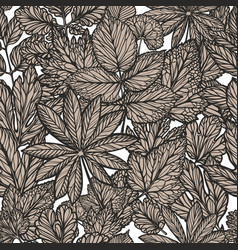 floral pattern vintage decorative leaves nature vector image