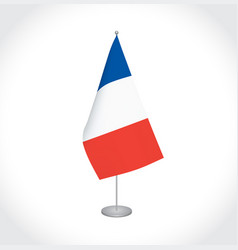 france flag on white background vector image