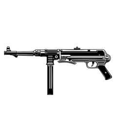 german submachine gun design element for logo vector image