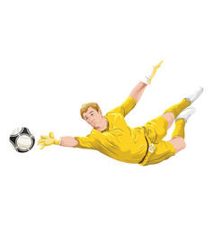 goalkeeper in action vector image
