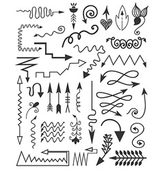 Hand drawn style design elements vector