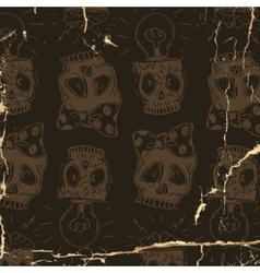 Hipster Skull Background vector