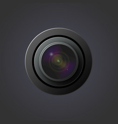 image lenses for camera vector image