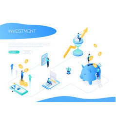 Investment concept - colorful isometric web vector
