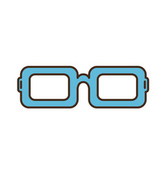 isolated blue glasses icon vector image