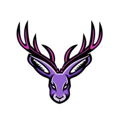 jackalope head mascot vector image