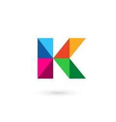 Letter K mosaic logo icon design template elements vector