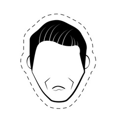 Male faceless people black and white vector