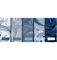 Marble collection abstract liquid pattern texture vector
