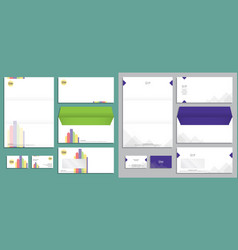 modern stationery set in format vector image