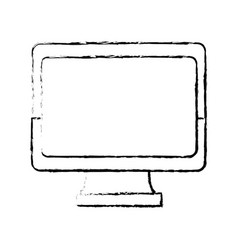 Monitor screen blank device work wireless vector