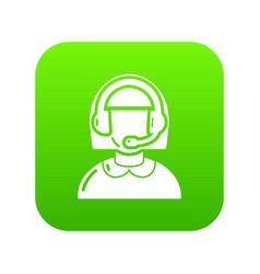 operator icon green vector image
