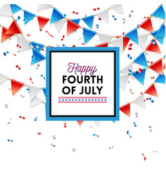 patriotic red white and blue fourth of july card vector image