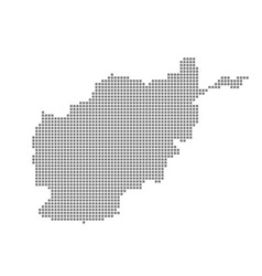 pixel map of afghanistan dotted map of vector image