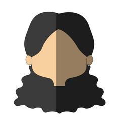 Pretty girl face female character head vector