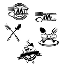 Restaurant menu symbols vector