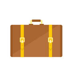 retro suitcase icon flat style vector image
