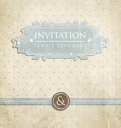 Retro Wedding Invitation with Polka Dots vector image