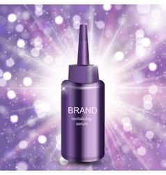 Revitalizing serum for hair bottle template for vector