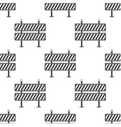 road barrier seamless pattern on white background vector image
