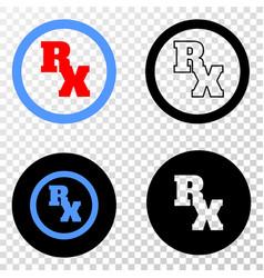 Rx receipt symbol eps icon with contour vector
